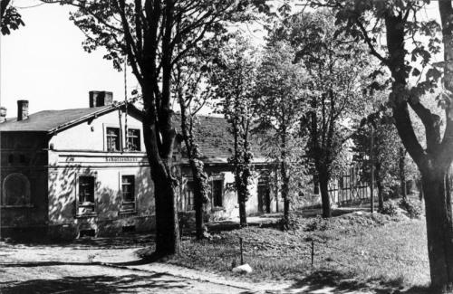 Schützenhaus in Pasewalk, wo Hitler Ende des Ersten Weltkriegs erblindet gelegen hat