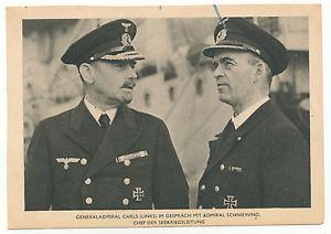 El almirante Carls, a la izquierda, conversando con el también almiran Schniewind