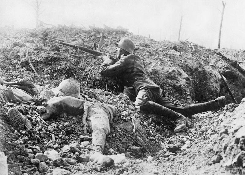 El terreno era demasiado duro para que pudieran cavarse trincheras profundas