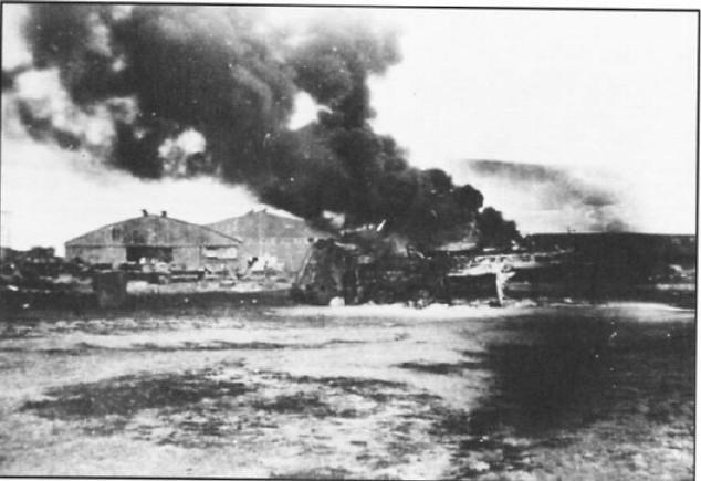 Clark Field, después del ataque.