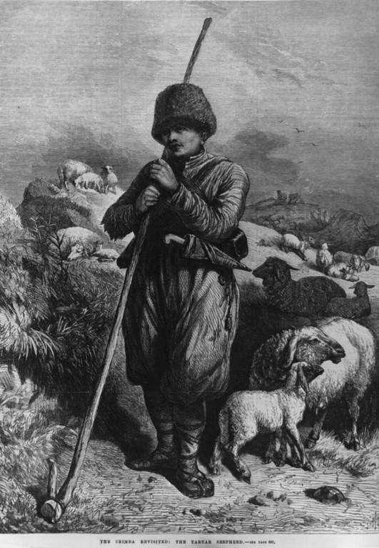 Pastor tártaro de Crimea, imagen de 1869.