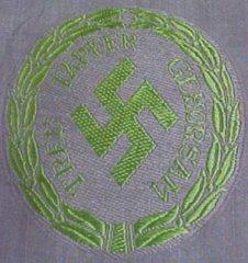 Posible emblema de las unidades Schuma organizadas por los alemanes.