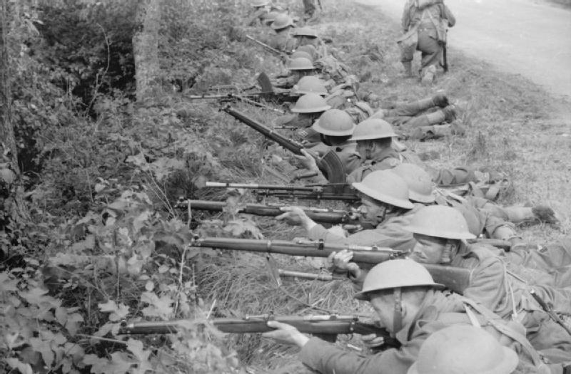 Soldados de la BEF, en un ejercicio