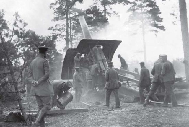Artillería pesada en Acción.